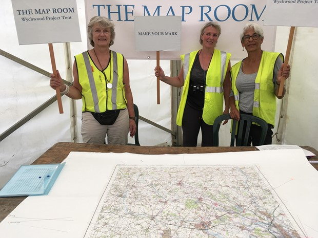 'The Map Room: Living and Working' at the Wychwood Fair, September 2018