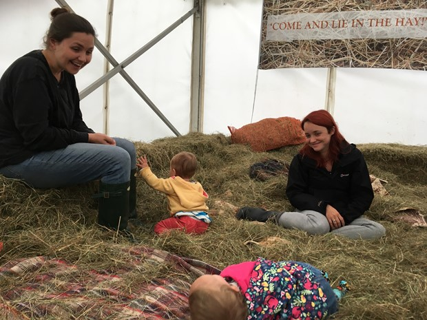 Come and Lie in the Hay ! - Credit: Come and Lie in the Hay ! at Wychwood Forest Fair, 2017