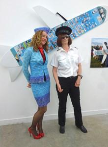 Jane & Sarah Strong with JaneAir plane