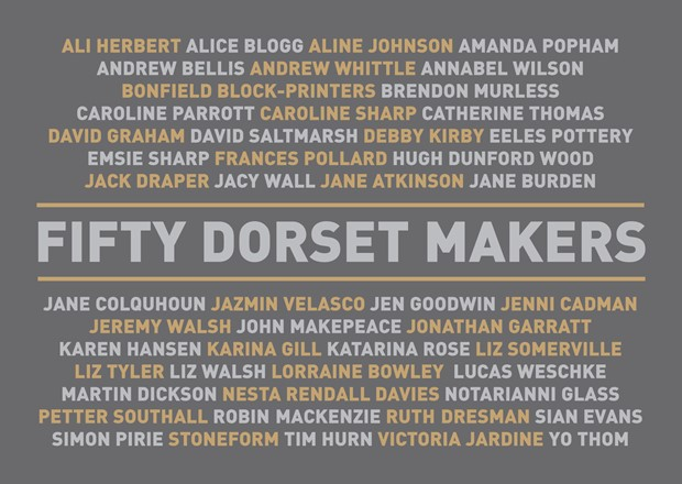 Fifty Dorset Makers  BOOK LAUNCH + SUPPORTING EXHIBITION, by Jenni Cadman