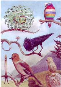 Imaginary Page from a Book of Birds, No. 6