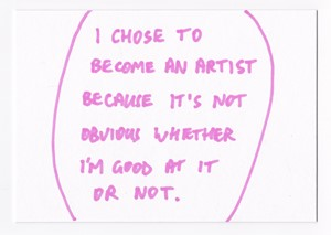 """""""I Chose to Become an Artist..."""", by James Gregory"""