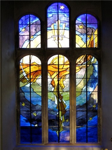 Stained glass window for St Mary's Church, Newent, Glos