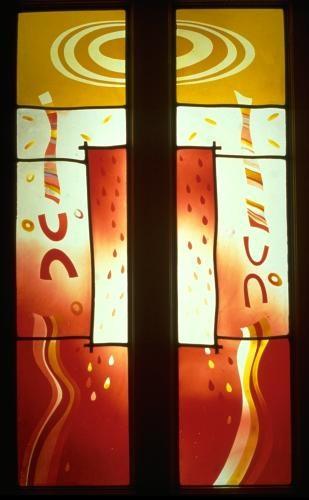 Two panels indoor, Homage to Paul Klee