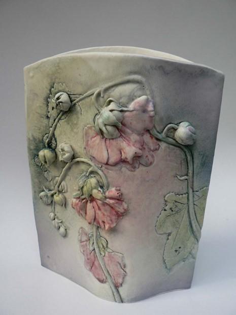Hollyhock Vase