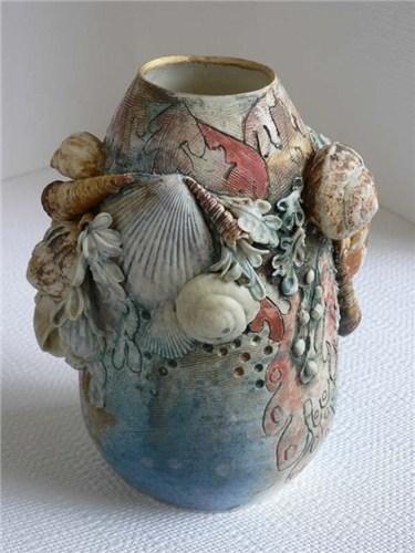 Seashell Vases Elaine Hind Axisweb Contemporary Art Uk Network