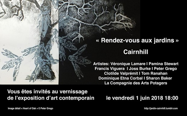 Invitation for Rendez-vous aux Jardins at Cairnhill, by Sharon Baker