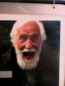 man in poster, London, 2017, by Stuart Haden