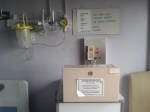 hospital bedroom wall, 2015, by Stuart Haden