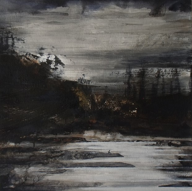 Nightfall at Runnymede.  A painting for a time of self isolation and introspection perhaps