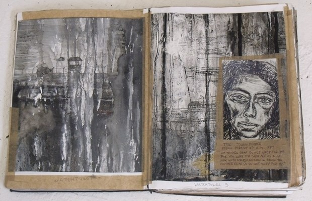 """Places of Mourning in the Western World. """"Mother dear, do not weep for me."""" Holocaust Sketchbook Com"""