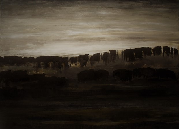 Cattle in Dawn Light at Wytham