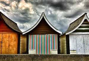 Beach huts, by Lisa Mitchell