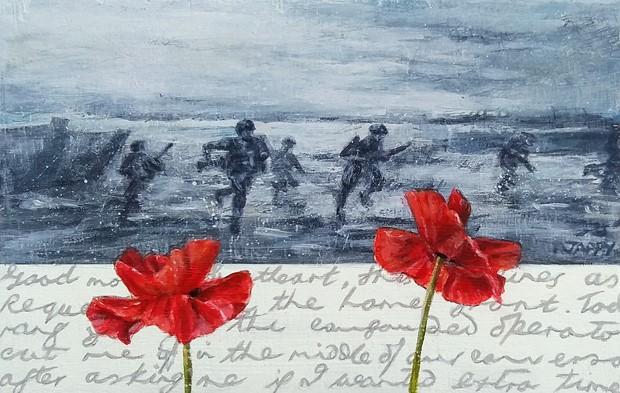 Remembrance Poppy 4 (Beach Landing)
