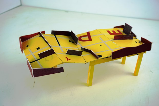 gaming table [maquette] - Credit: David Kirshner