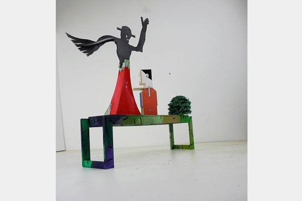 tryptich [maquette] - Credit: David Kirshner