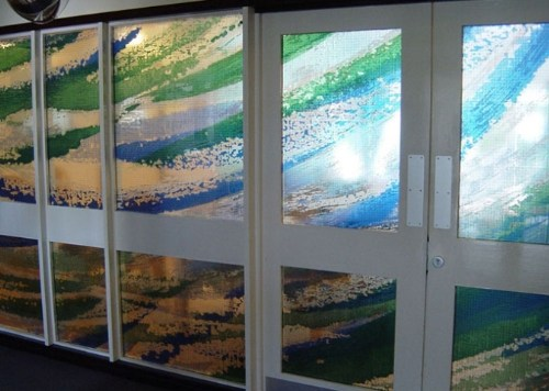 Glass screen for Oxleas and Bromley MH NHS Trust