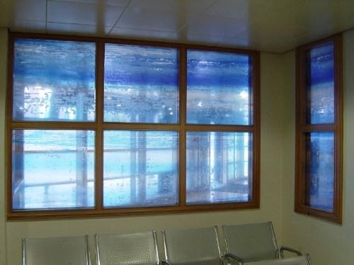 Glass screen for Liverpool Royal Hospital A&E Dept.