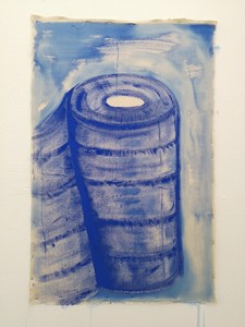 YelloW bellies (blue roll Madonna), by Rachel Magdeburg
