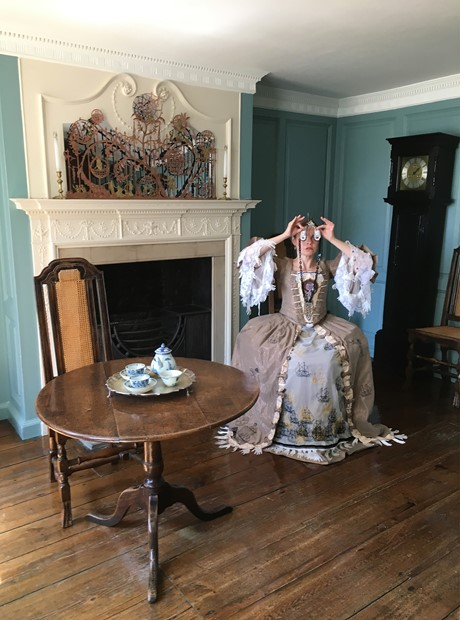 Neogeographies Photoshoot,  July 2019,    the Blue Parlour at the Captain Cook Memorial Museum Whitby.