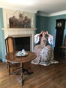 Neogeographies Photoshoot,  July 2019,    the Blue Parlour at the Captain Cook Memorial Museum Whitby, by Helen Snell