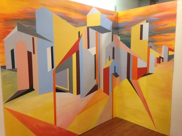 Art maze walls