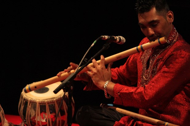 The Red Species List concert (Waqas on bansuri-flute)