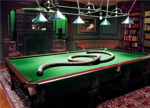 Billiardss Room with Rope