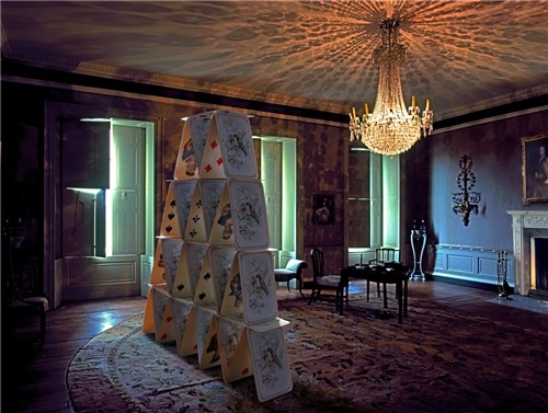 Drawing Room with Cards