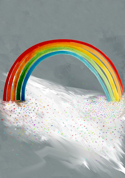 Walk through a rainbow
