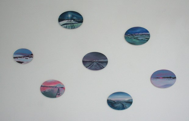 Collection of oval landscapes, Hrisey