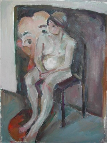 Nude with Wall Painting