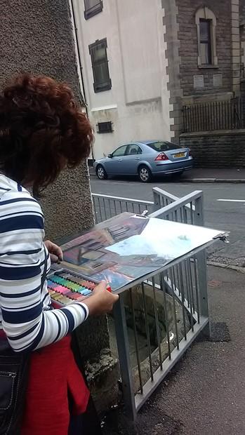 short residency at The Workers Gallery, Rhonnda Vallery