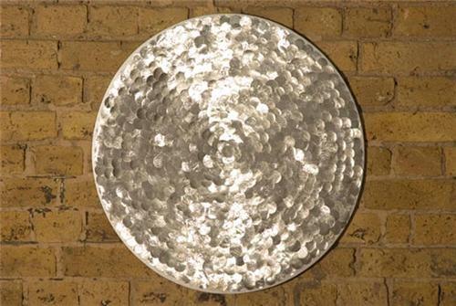 Silver Sequin Circle