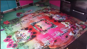 Paradise Junkies - Bespoke Kitchen Floor, by Emily Campbell