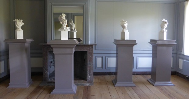 Plaster Busts at Sweet 18 exhibition,  Belgium