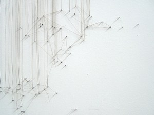 Textile Drawing, by Sarah Evans