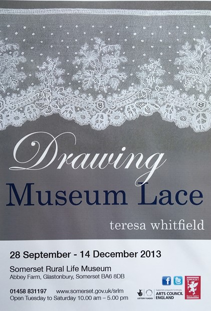 Drawing Museum Lace, Somerset Museum of Rural Life, Glastonbury.