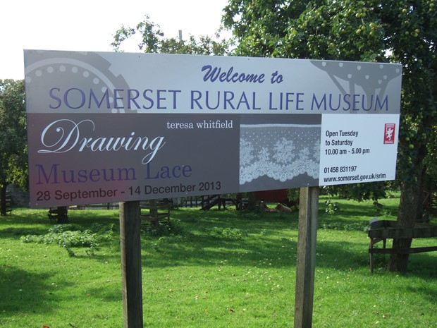 Drawing Museum Lace, Somerset Museum of Rural Life, Glastonbury, by Teresa Whitfield