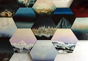 New hexagon series from Sweet+Shore, by Anne Penman Sweet