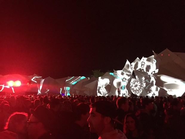 AVTV  - Shangri - La - Glastonbury Festival - 2015 - Credit: Malcolm Litson - Visuals - Heaven Stage
