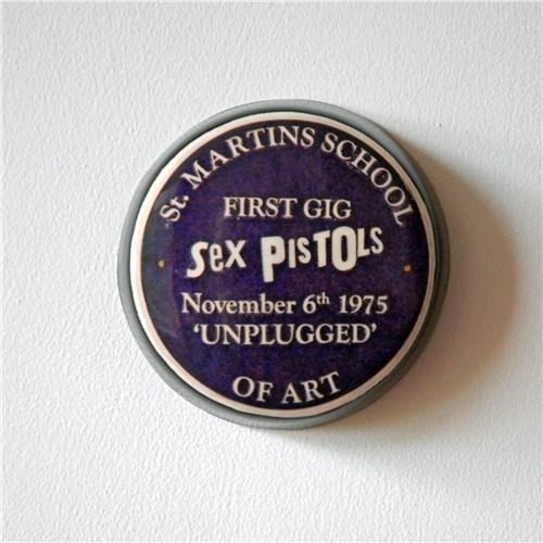 Sex Pistols Plaque, Saint Martin's school of Art