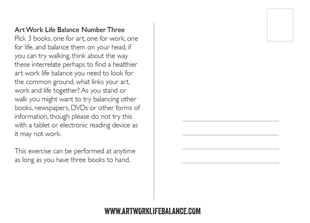 Art Work Life Balance Postcards