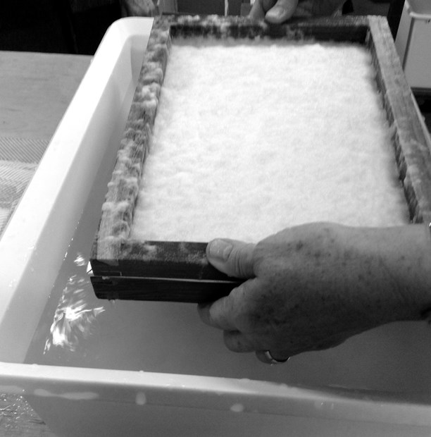 Experimental papermaking: Material Journeys  BOOKS, PAPER AND LETTERING WEEK