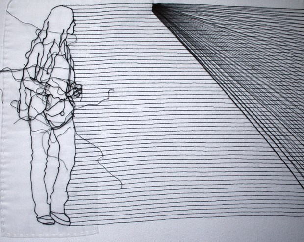 Line Art Figures : Figure line rosie james axisweb contemporary art uk network