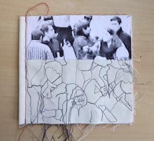 Paris Crowd cloth Book (Textile), by Rosie James