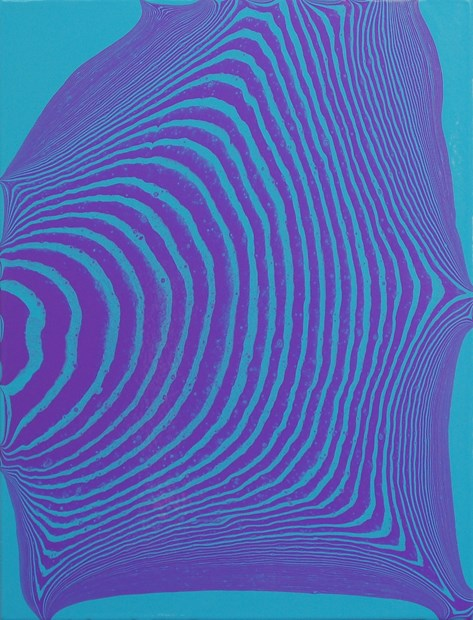 Tipping Point (light blue permanent / brilliant purple) #1