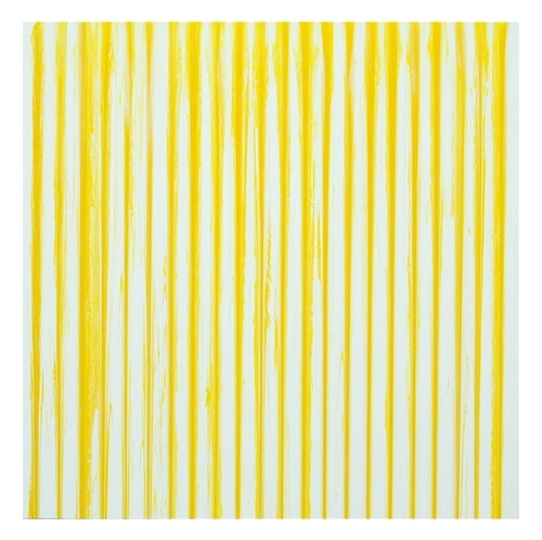 Untitled Linear Painting #23 (White / Yellow)