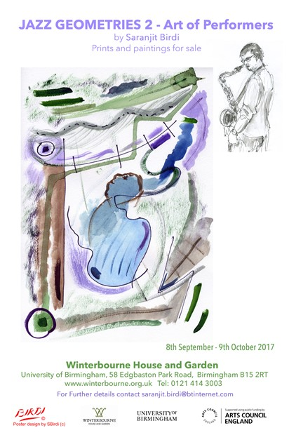 'Jazz Geometries 2- Art of performers'- at Winterbourne House