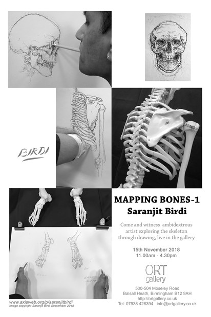 'Mapping Bones 1' - Installation and Exhibition at ORT Gallery 15th November 2018